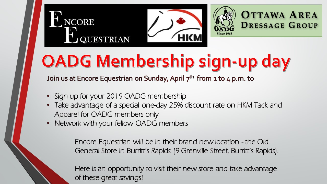 Encore Equestrian OADG Membership Discount Day